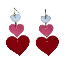 Ombre Triple Heart Acrylic Dangle