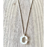 Acrylic Single Initial Necklace