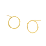 Open Gold Hoop Earrings