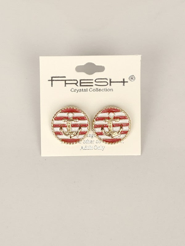 Anchor Stripe Stud
