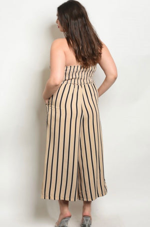 Pia Striped Jumpsuit