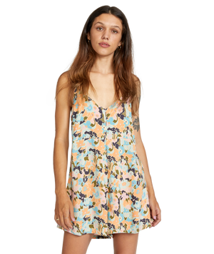 Woodstock	Rompers & Jumpsuits	Floral, Romper, V-Neck, Coverup, Button-Up	Chai