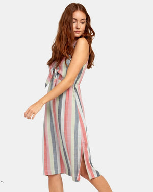 Flossie Striped Midi Dress