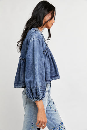 Charlotte Denim Blouse
