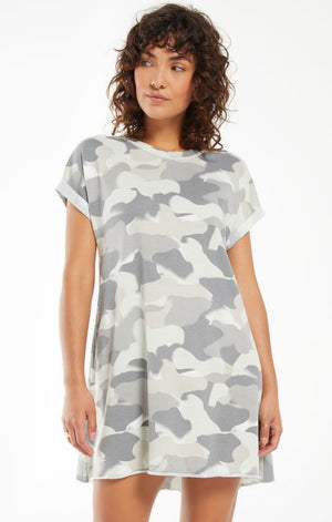 Agnes Painted Camo Terry Dress