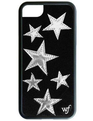 Black Velvet Silver Stars iPhone Case