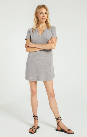 Split Neck Triblend Dress