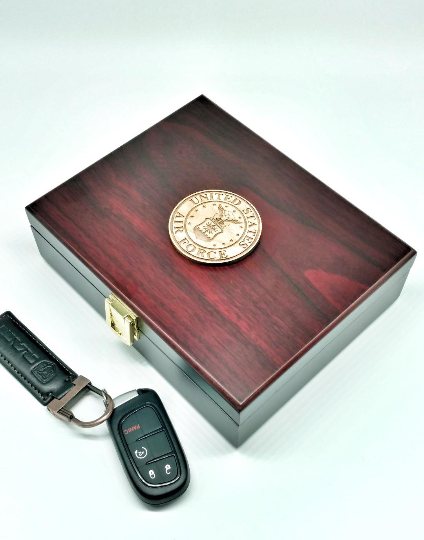 Air Force shown Military Branch Rosewood Finish Gift Box