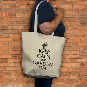 Gardening Tote - Keep Calm and Garden