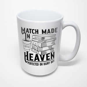 Coffee and Books Sublimated Mug - A match made in heaven
