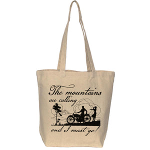 Mountains tote bag - The mountains are calling and I must go