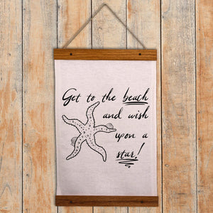 Beach Wall Hanging - Wish upon a star