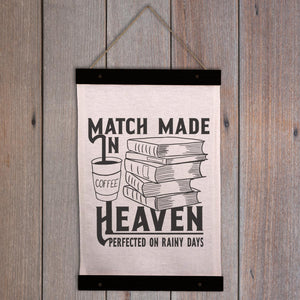 Coffee and Books Wall Hanging - Match made in heaven