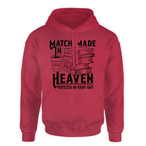 Books and Coffee Hooded Sweatshirt  - Match made in heaven