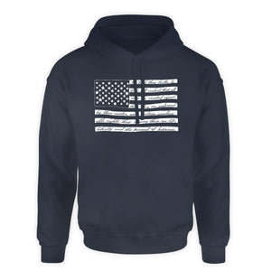 Patriotic Hooded Sweatshirt - Declaration of Independence