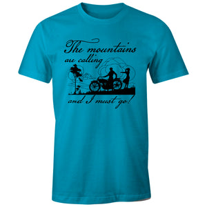 Mountain T-shirt - The Mountains Are Calling And I Must Go