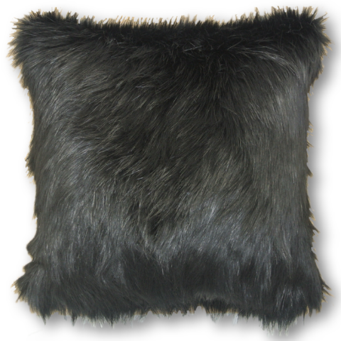 Black Long Haired (Faux Fur 43cm x 43cm)