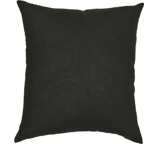Black & Natural Linen (50cm x 50cm)