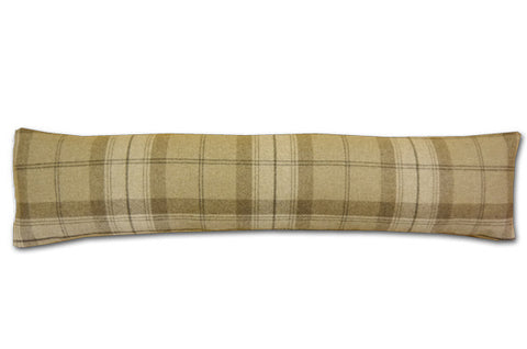 Park Lane Wool Plaid Oatmeal Draught Excluder (90cm x 20cm)