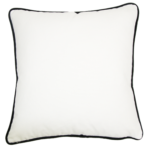 Brilliant White Piped (50cm x 50cm)
