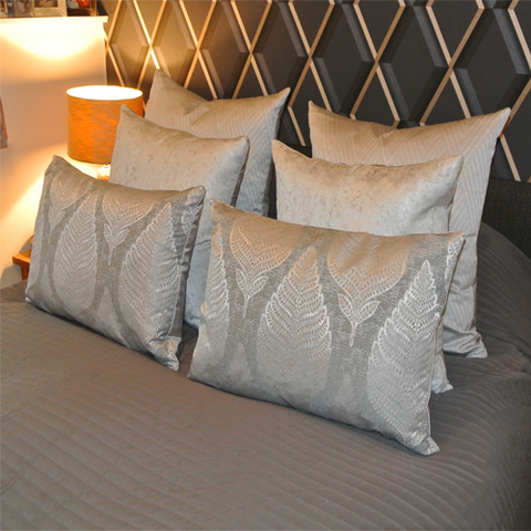 Chrome Sterling Grey Collection (six cushions)