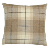 Fudge Brown Wool Plaid (43cm x 43cm)