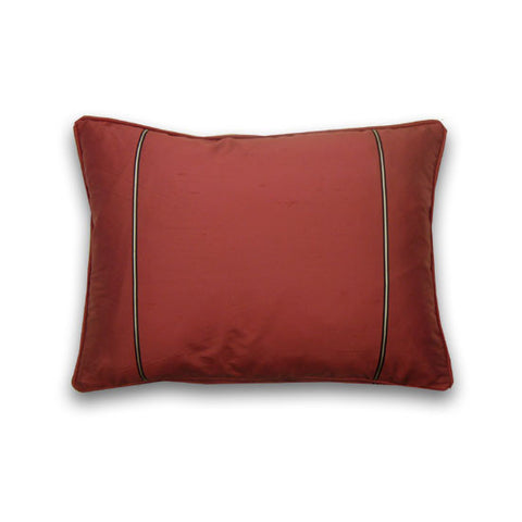 Keira Silk Cushion, Cerise