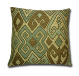 Kuba Tribal Weave Cushion, Blue