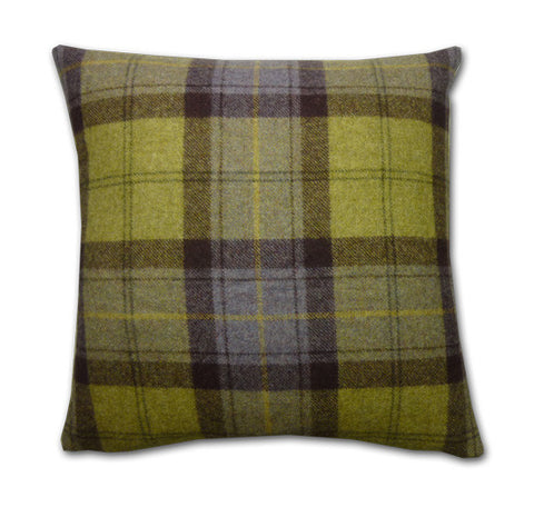 Blackberry Wool Plaid Cushion (43x43cm)