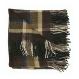 The Lune Brown & Grey Throw  (140cm x 180cm)