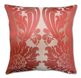 Byron Damask Silk Cerise Cushion (50x50cm)