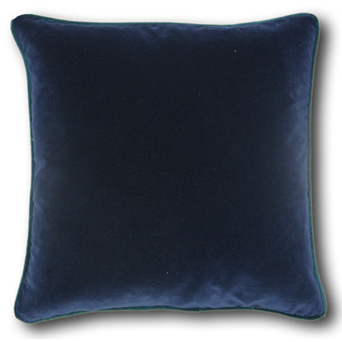 Navy Velvet & Teal Piping (43cm x 43cm)