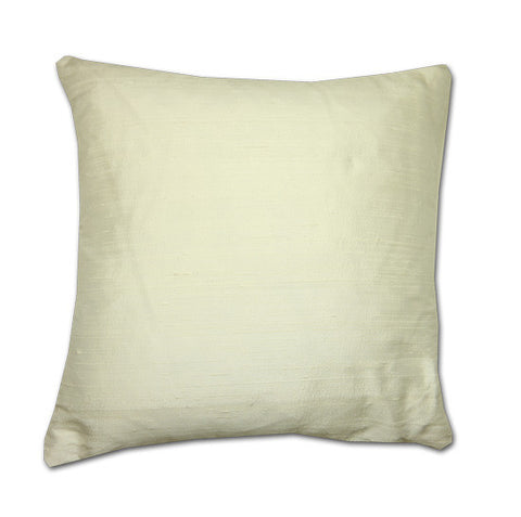 White Silk Doupion Cushion (43cm x 43cm)