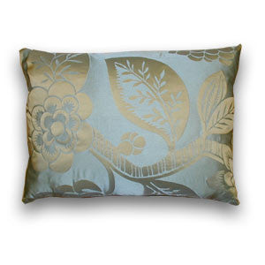 Eltham Vine Silk Cushion, Blue (50x33cm)