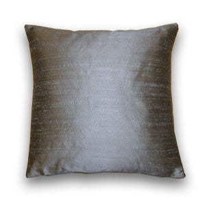 Charcoal Silk Doupion Cushion (43x43cm)