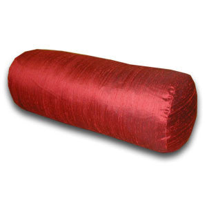 Ruby Red Silk Doupion Bolster (45x16cm)