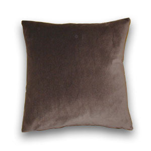 Cotton Velvet Cushion, Chocolate (43x43cm)