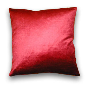 Rimini Velvet Cushion, Ruby (43x43cm)
