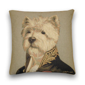 Captain Westie Tapestry Cushion (44x44cm)