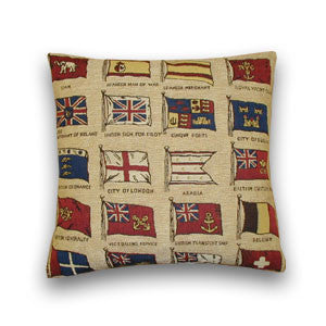 Cream Flags Tapestry Cushion (43x43cm)