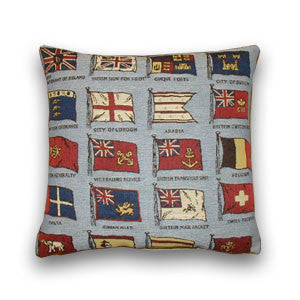 Blue Flags Tapestry Cushion (43x43cm)