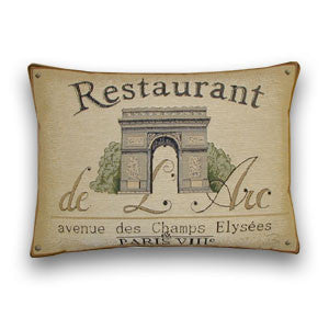 Restaurant de L'Arc Tapestry Cushion