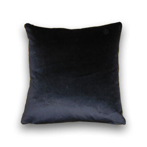 Cotton Velvet Cushion, Black (43x43cm)