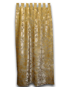 Silk Velvet Tab Top Door Curtain, Gold