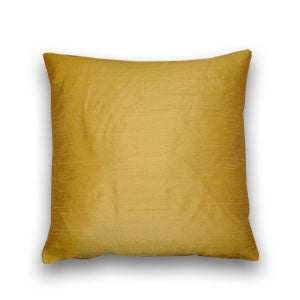 Bright Gold Silk Doupion Cushion (43x43cm)