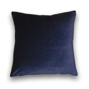 Cotton Velvet Navy Cushion (43x43cm)