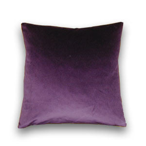 Cotton Velvet Purple Cushion (43x43cm)