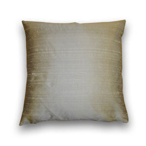 Silver Silk Doupion Cushion (43x43cm)