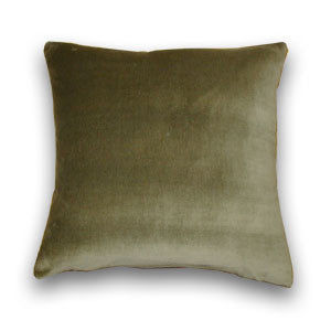 Cotton Velvet Cushion, Moss Green (43x43cm)