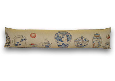 Blue White Pottery Draught Excluder (90x22cm)